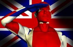 BRITISCHER Mann 24 Stockbild