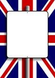 BRITISCHER Markierungsfahnen-Zeichen-Pfosten Stockbilder