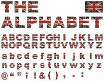 Britischer Markierungsfahnenschrifttyp Stockbilder