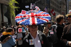Britischer Ostern-Hut Stockbild