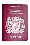BRITISCHER Paß Lizenzfreie Stockfotos