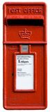 Britischer roter Pfostenkasten, letterbo Stockfotos
