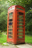 Britischer roter Telefonkasten stockbild