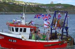 Britischer Schleppnetzfischer Stockfotografie