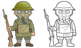 Britischer Soldat während des Ersten Weltkrieges lizenzfreie abbildung