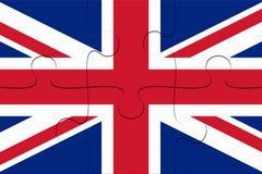 BRITISCHER Verband Jack Flag Jigsaw Puzzle, Illustration 3d lizenzfreie abbildung