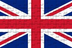 BRITISCHER Verband Jack Flag Jigsaw Puzzle, Illustration 3d vektor abbildung