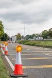 BRITISCHES Autobahn-Service-Verkehrsschild Stockfotos