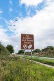 BRITISCHES Autobahn-Service-Verkehrsschild Lizenzfreie Stockfotografie