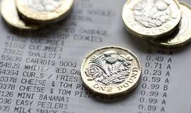 Britisches Bargeld Stockfotografie