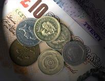 Britisches Bargeld stockfoto