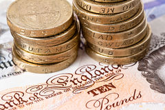 Britisches Bargeld Stockbild