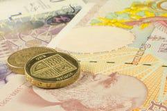 Britisches Bargeld Lizenzfreies Stockfoto
