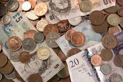 Britisches Bargeld   Lizenzfreie Stockfotografie