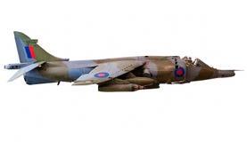 Britisches Geländeläufer-Kampfflugzeug getrennt auf Weiß Stockfotografie
