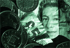 BRITISCHES Geld Stockbild