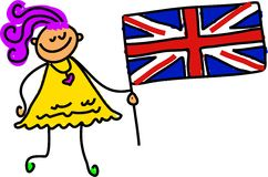 Britisches Kind Lizenzfreie Stockfotografie