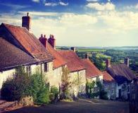 Britisches Kultur-traditionelles Haus-berühmtes Reise-Stellen-Konzept Lizenzfreie Stockfotografie