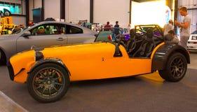 Britisches Luxussportauto an der königlichen Automobilausstellung Stockbilder