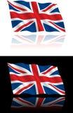 Britisches Markierungsfahnen-Fließen lizenzfreie stockfotografie
