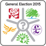BRITISCHES Parlamentswahl Politcal-Partei-Logo-Zeichen 2015 Lizenzfreie Stockbilder