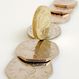 Britisches Pfund und Pennys Lizenzfreie Stockfotos