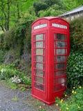 Britisches phonebox im Grün Lizenzfreie Stockfotos