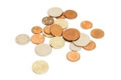 Britisches Pound-Münzen stockbild