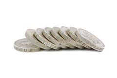 Britisches Pound-Münzen Lizenzfreies Stockfoto