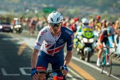 Britisches Radsportteamreiter Ausflugde Yorkshire Stockfotos