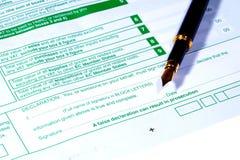 BRITISCHES VAT-Formular lizenzfreies stockfoto