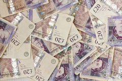 British 20 примечаний фунта Стоковые Фото
