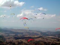 british раскрывают paragliding Стоковые Фото