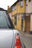 British 1. British. Morris Mini at the historic village Royalty Free Stock Images