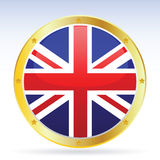 British. Vector illustration of the british flag Royalty Free Stock Photos
