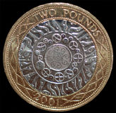 A British 2 Pound Coin Stock Images