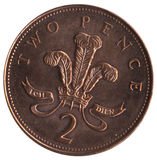British 2p Piece. Brirish currency - 2p piece stock photos