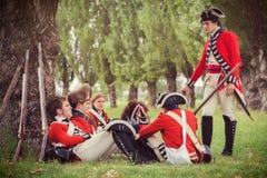 воины british армии Стоковое Фото