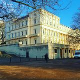 The British Academy, Carlton House. Beautiful London Architecture Royalty Free Stock Images