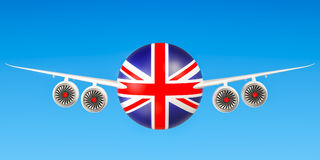 British airlines and flying`s, flights to United Kingdom concept Stock Photo