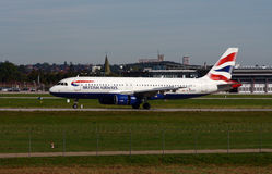 British Airways A-320 Royalty Free Stock Photos