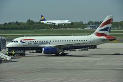 British Airways Royaltyfria Foton