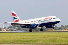 A318 British Airways Imágenes de archivo libres de regalías
