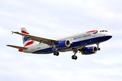 British Airways Airbus A320 Photos libres de droits