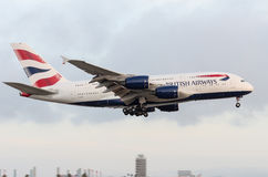 British Airways Airbus 380 Foto de Stock Royalty Free