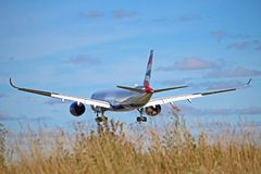 Free British Airways Airbus A350-1000 Rear View Stock Images - 160372324