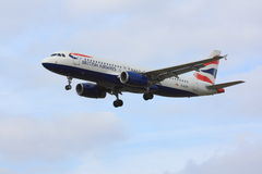 British Airways Airbus A320. Approaching Stock Photography