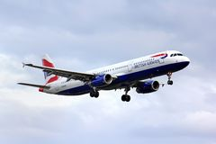 British Airways Airbus A321 Royalty Free Stock Photo