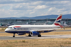 British Airways Airbus A319-100 Royalty Free Stock Photography