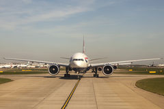 British Airways Airbus A320 at the London Heathrow Airport Royalty Free Stock Photo